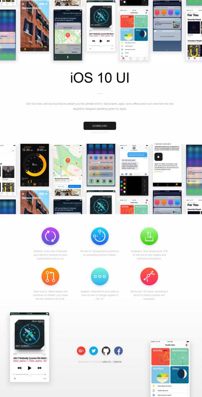 Free iOS 10 UI Kit Sketch