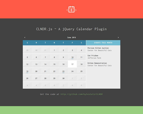 15 jQuery Event Calendar Plugins for Your Web Project - Smashfreakz