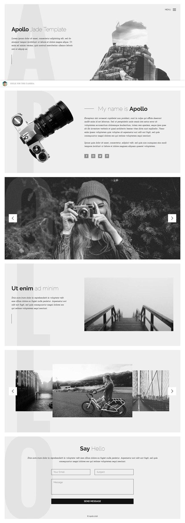 Apollo Photography HTML Template