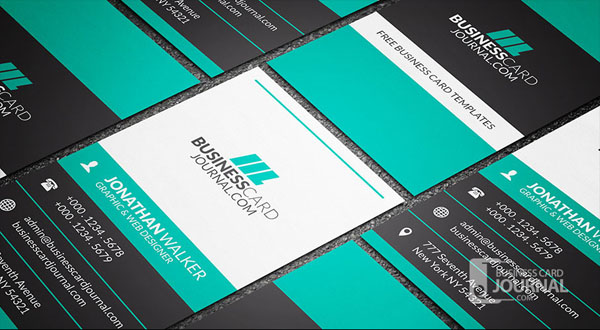 Free Vertical Business Card Template 08
