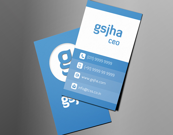 Free Vertical Business Card Template 12