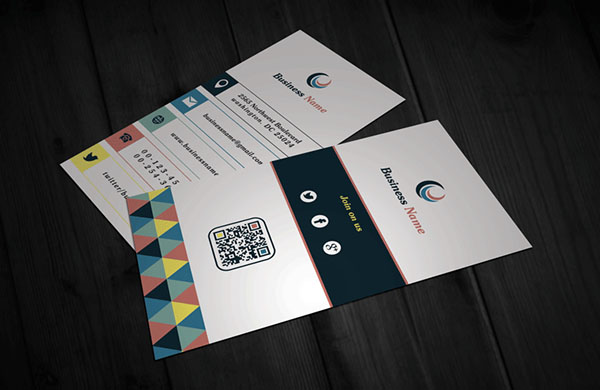 Free Vertical Business Card Template 14