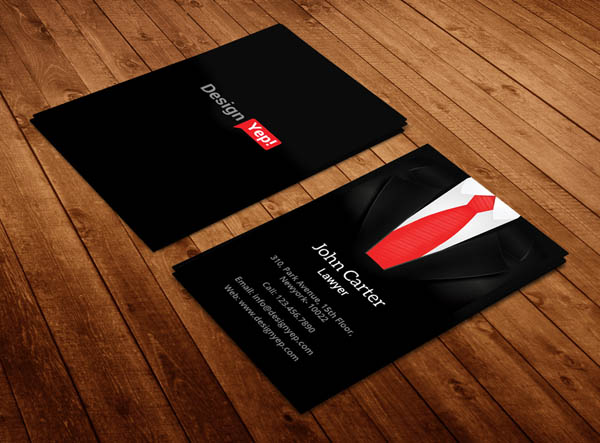 Free Vertical Business Card Template 21