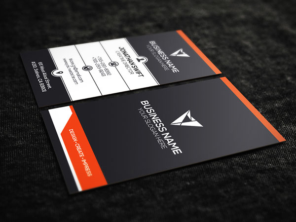 Free Vertical Business Card Template 24