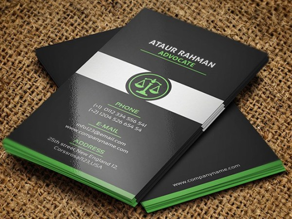Free Vertical Business Card Template 27