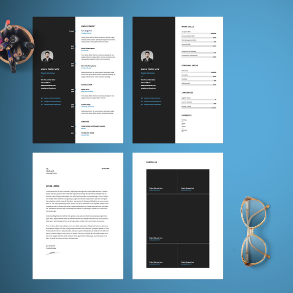Free Vertical Resume Template 02