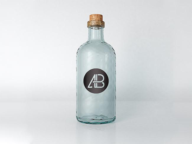 Photorealistic Bottle Mockup PSD