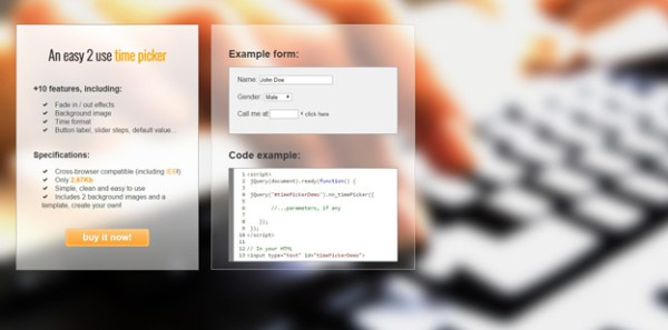 jQuery Time Picker Plugins 11