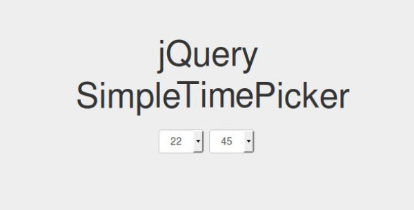 jQuery Time Picker Plugins 15