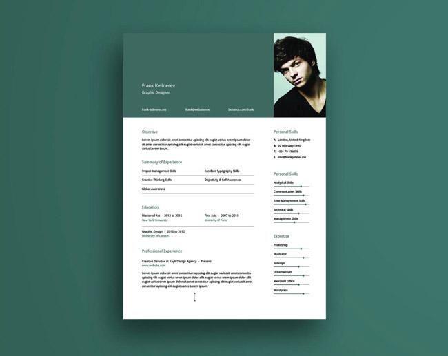 Free Clean Creative CV Template 01