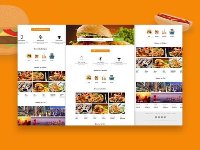 Online Delivery PSD Website Template