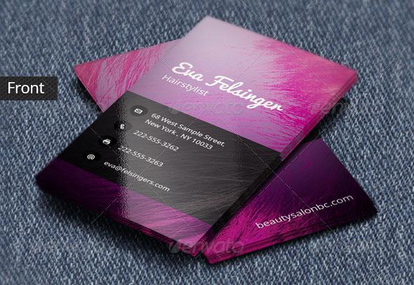 Hair Stylist Business Card Templates - Beauty salon business cards templates free