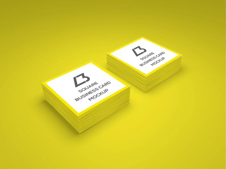 10 Free Square Business Card Mockups Smashfreakz