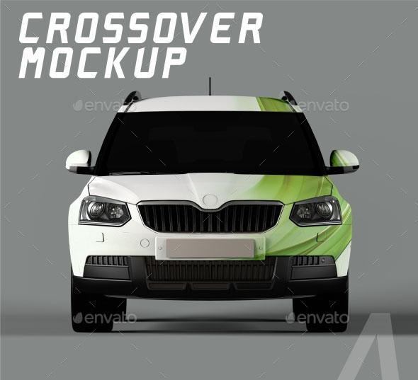 Crossover Car Mockup