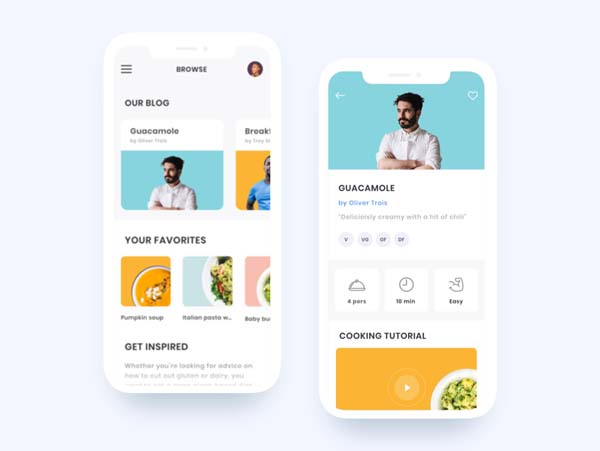Flat App UI Design