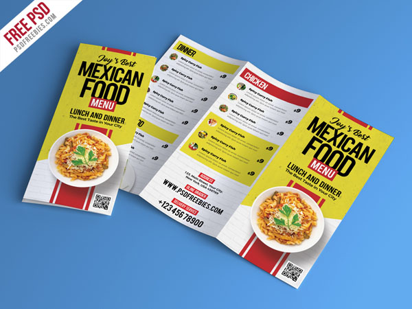 Free Restaurant Menu Brochure Templates That Ready For Print - Food brochure templates