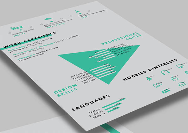 Photographer Indesign Resume Template