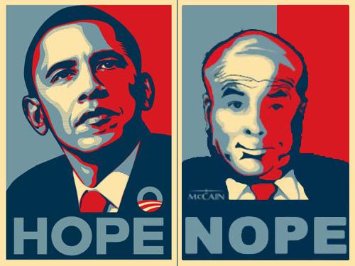 John McCain black, Barack Obama white?