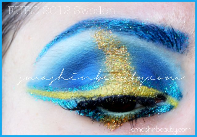 UEFA EURO 2012 Sweden Fan Makeup / Sverige fan smink