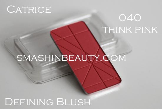 Catrice Defining blush 040 think pink makeup review swatches recenzija