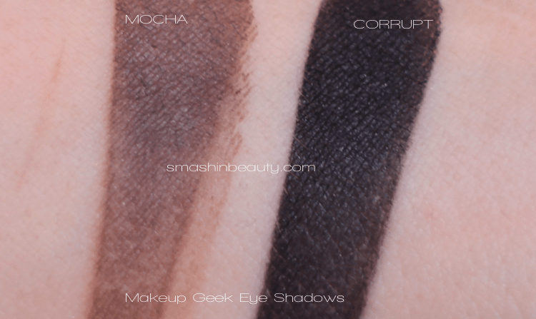 Makeup Geek Eye Shadow Mocha Corrupt Swatches Makeup Review smashinbeauty