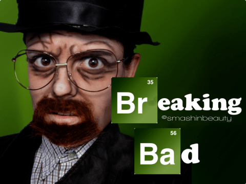 Breaking Bad Makeup Halloween 2013 heisenberg Walter White