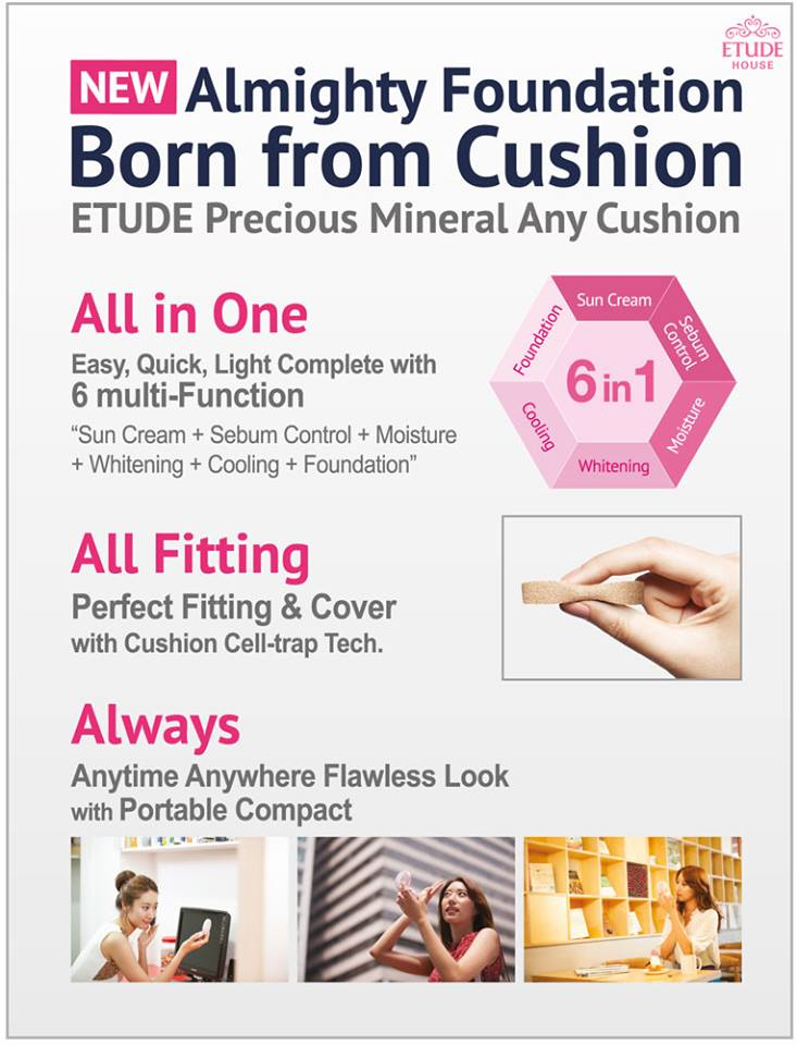 Etude House Any Cushion Foundation 6in1
