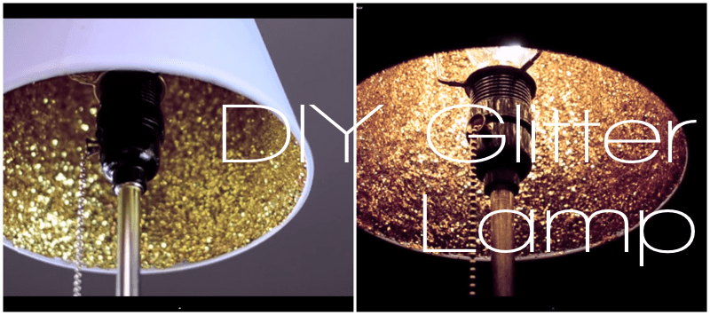 DIY Glitter Lamp Gold Godlen