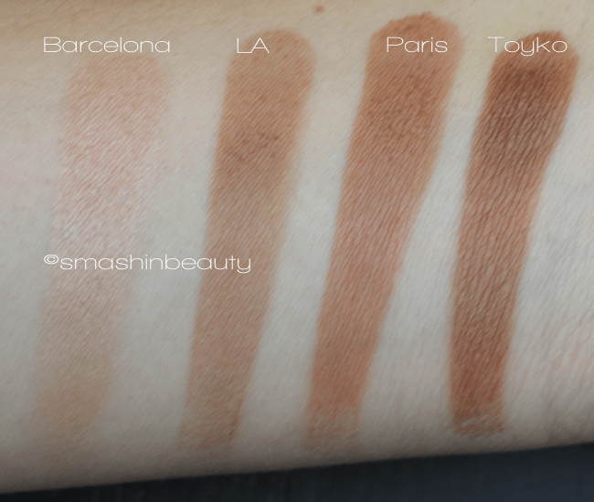 Fashionista Bronzer Barcelona, LA, Paris, Toyko, Swatches, Makeup Review
