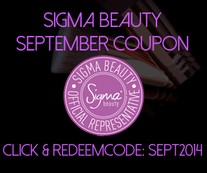 Sigma Beauty September Coupon Codes 2014
