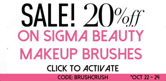 Sigma Beauty 20 off coupon october 2014