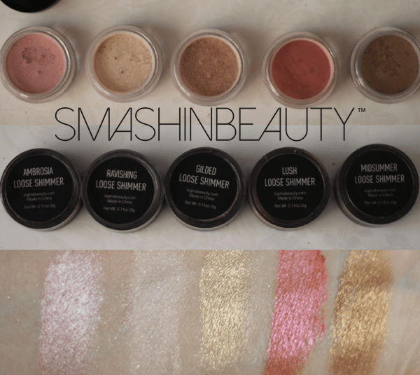 Sigma Beauty Loose Shimmer Swatches