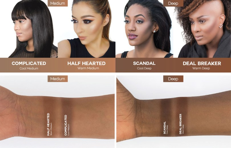 Makeup Geek Deep Contour Powder Swatches