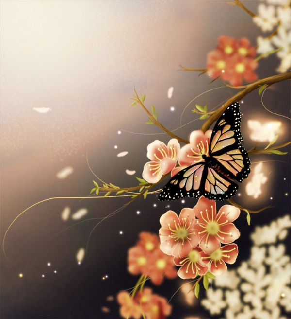 Butterfly Scenery 35 Fresh and Useful Photoshop Tutorials
