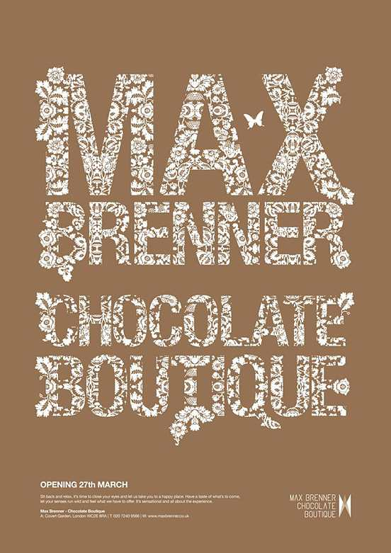 Max Brenner l Fantastic Examples of Typography