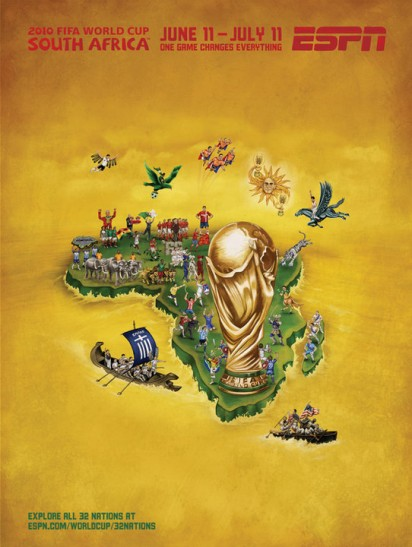 espn 2010 FIFA World Cup Murals 32nations 412x547 Hilarious FIFA  World Cup Advertising 2010