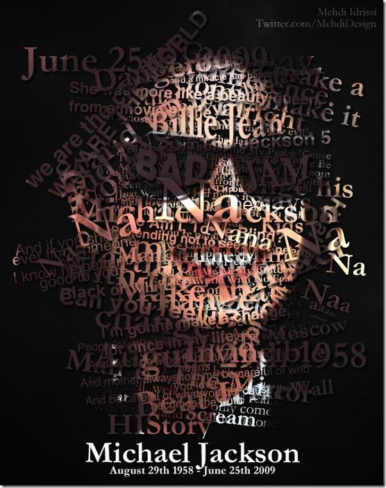 Michael Jackson Typography