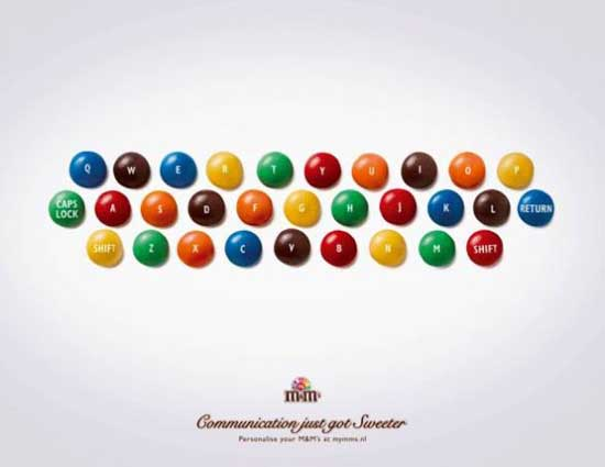 "M&M's ""Communication just got sweeter."""