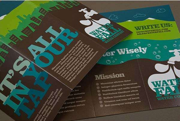 Graphic Water Company Brochure