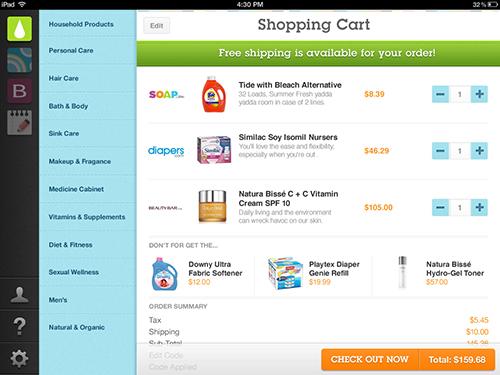 ipad commerce app