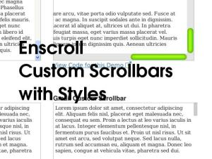 jQuery Plugin for custom scroll bars : enscroll