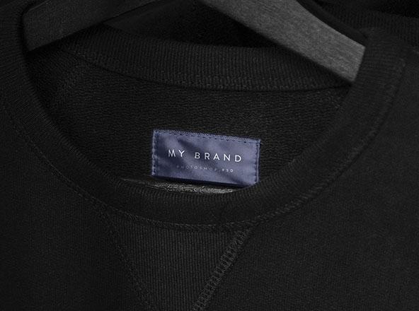 Download Minimal Clothing Label Mockup for Apparel - Free Download
