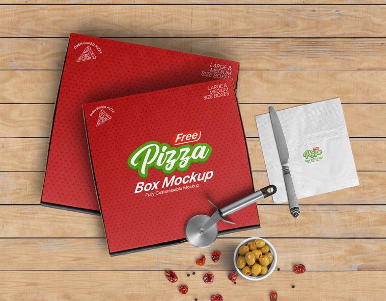 Download PSD Realistic Pizza Box Mockup - Free Download