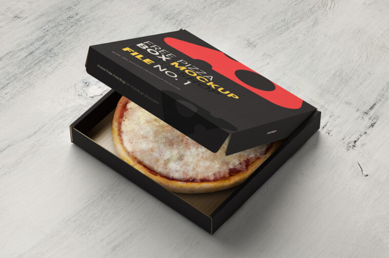 Download Opened Pizza Box Mockup - Free Download