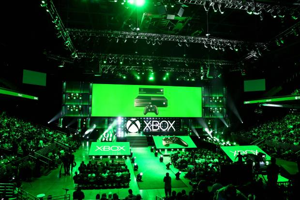 Crowds gather at the Xbox E3 2014 Media Briefing at the Galen Center on Monday, June 9, 2014 in Los Angeles. (Photo by Matt Sayles/Invision for Microsoft/AP Images)