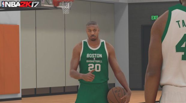 Can't think of anything more awkward than Michael B. Jordan being put in a game that Michael Jordan was once the cover athlete of...