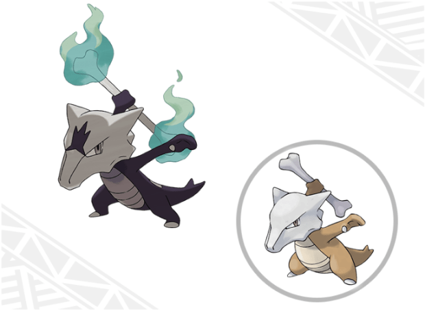 Nope, that's not a Mega Marowak nor is it a shiny one. That's Marowak's Alola form, a hybrid dark and fire type.