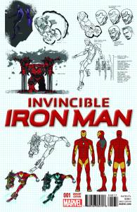 Invincible Iron Man #1 Variant Covor