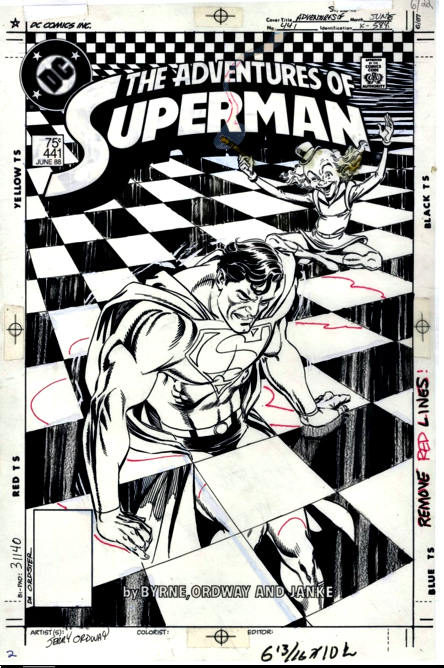 Uncolored Final Version of Adventures of Superman 441