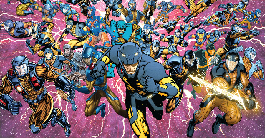 50 artists jam together on 'X-O Manowar' #50 cover